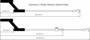 Aluminium Opener Poles