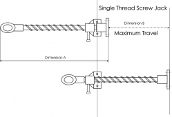 Single Thread Screw Jacks