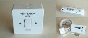 Ventilation Switch Remote Temperature