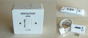 Ventilation Switch Remote and Temperature