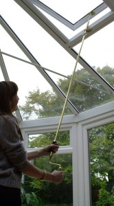 Screwjack and Winder Pole In Conservatory