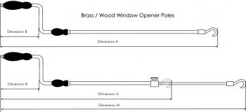 Wooden Opener Poles