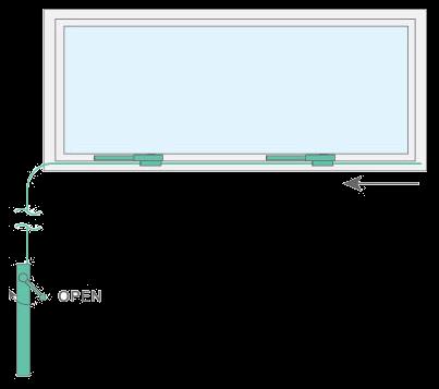 Teleflex style window opener